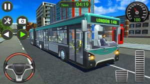 Bus Game Commuters Bus Starts Driving