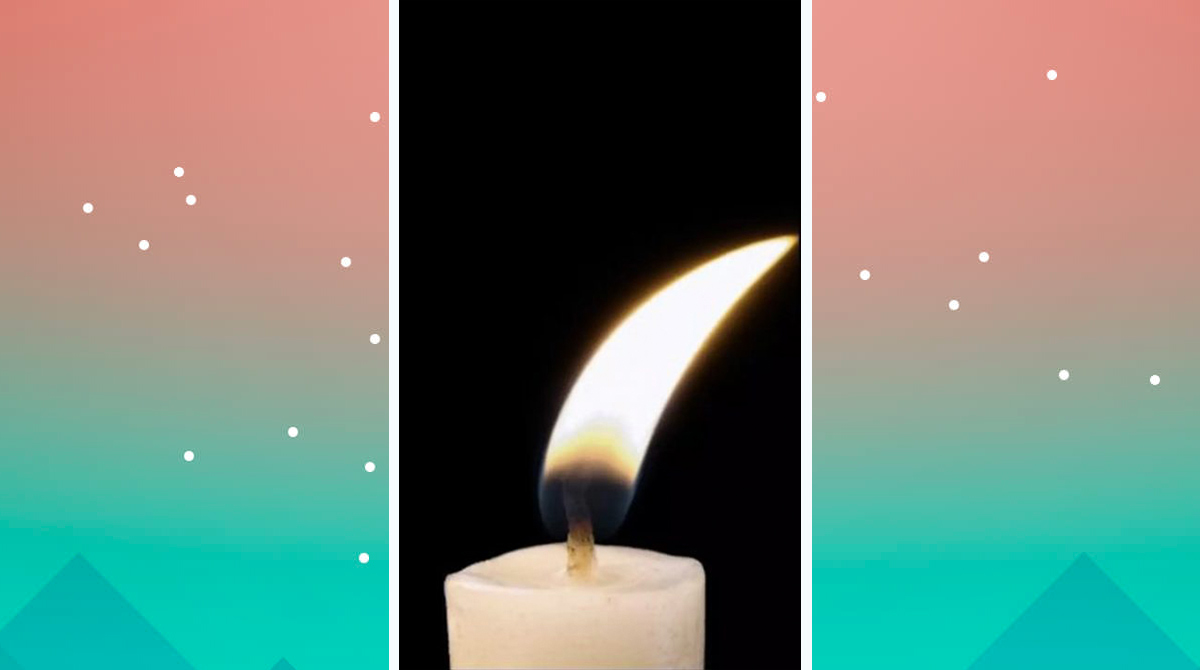 candle swaying fire