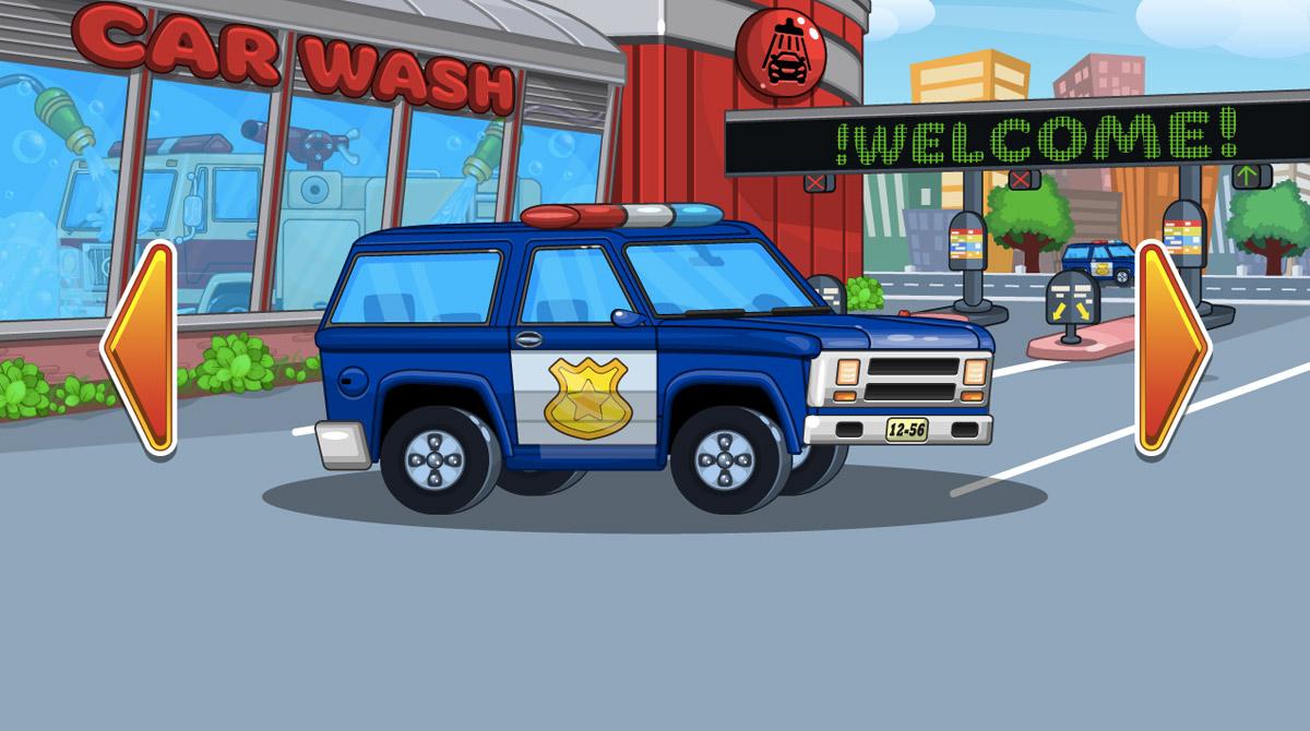 car wash chiefs police car
