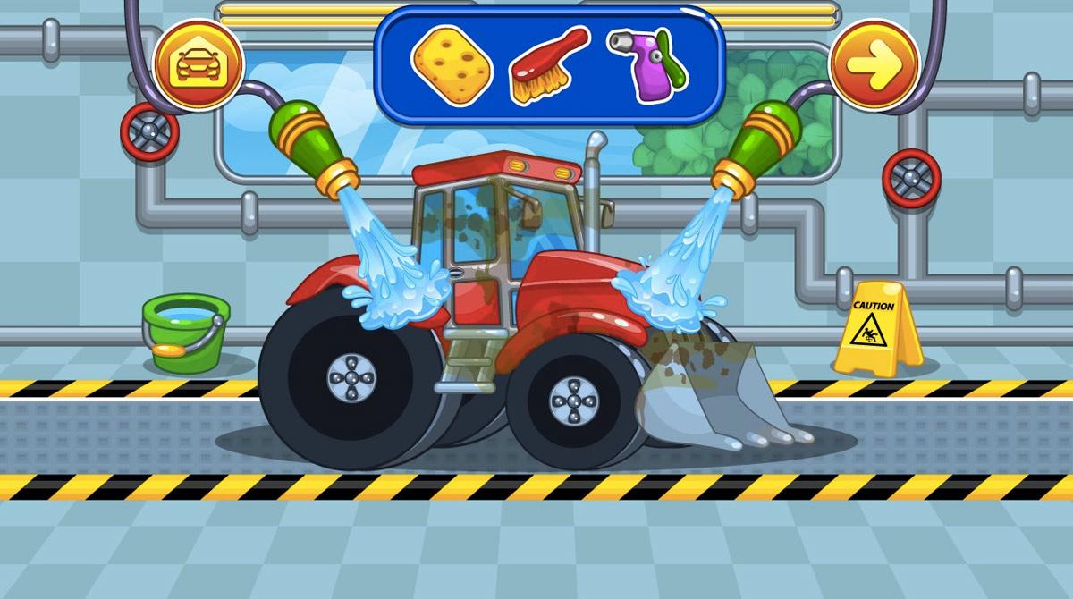 car wash washing sandy bulldozer