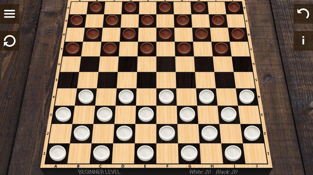 checkers on mahogany wood