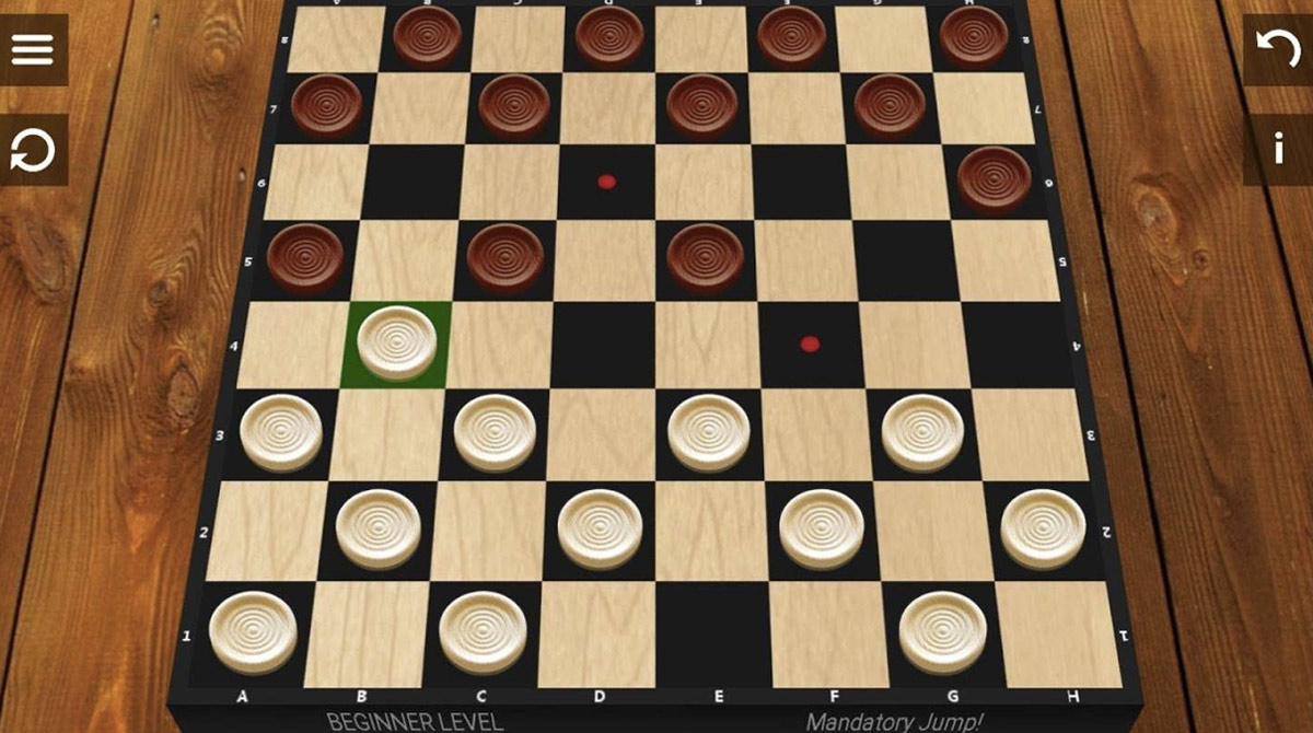 checkers whites turn