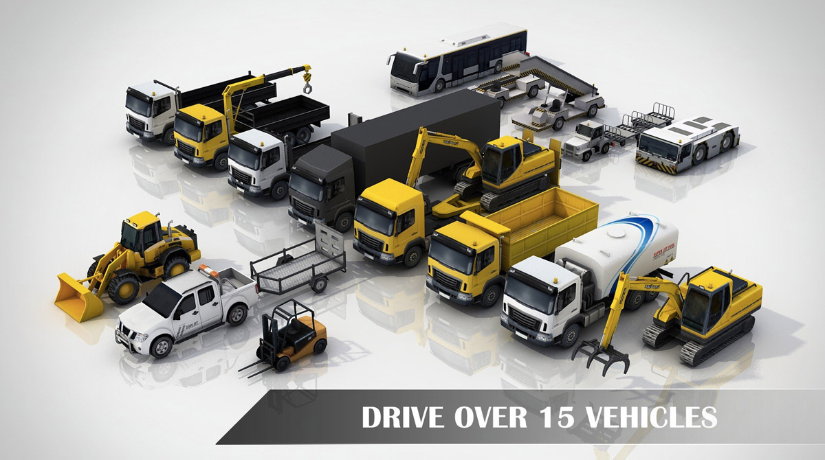 drive simulator numerous trucks