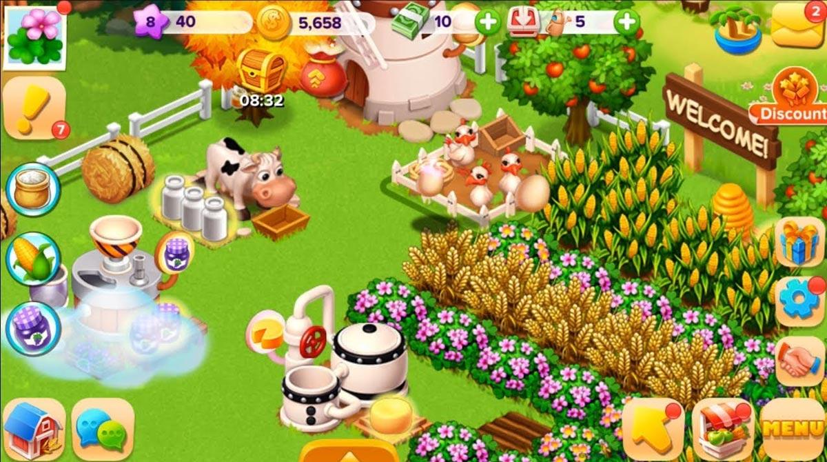 family farm wonderful garden