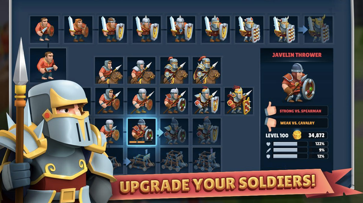Game Of Warriors Upgrade Soldiers