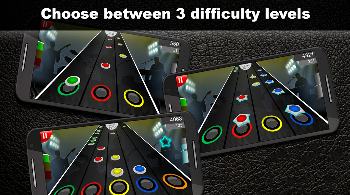 Guitar Flash Difficulty Levels