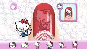 Hello Kitty Nail Salon Cute Stickers