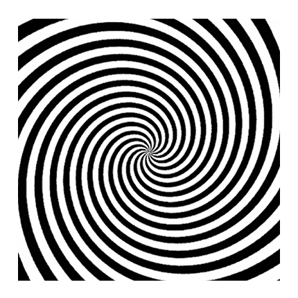 illusion swirl visual deception