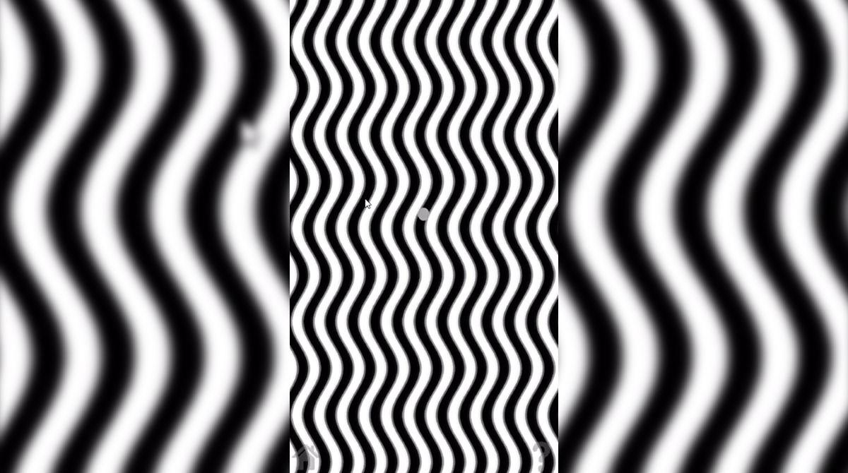 illusion wavy lines illusions