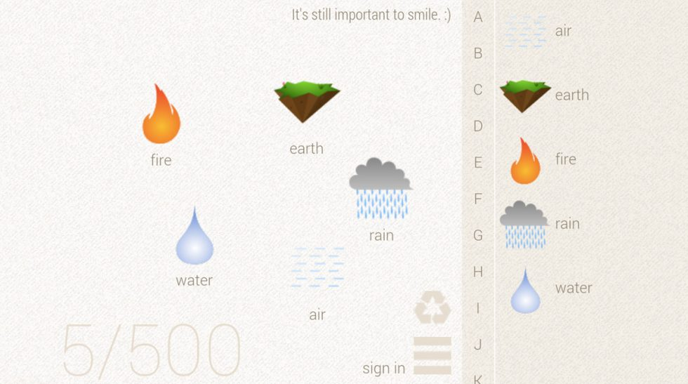 little alchemy rain water air