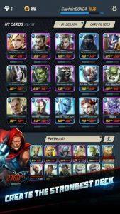marvel battle lines the strongest deck
