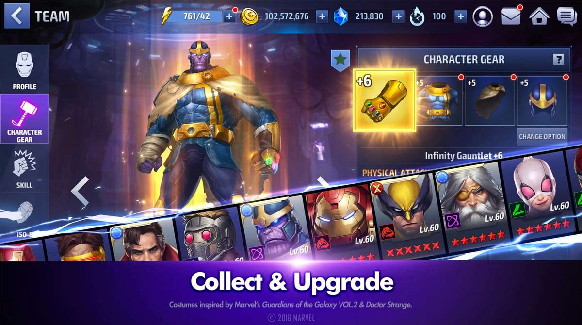marvel future fight collect upgrade