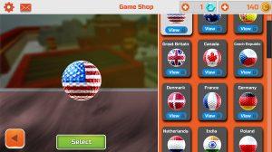 mini golf 3d city choose ball