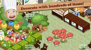 restaurant story decorate hundreds of items