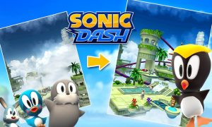 sonic dash stages characters run