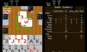 spades score summary cards game