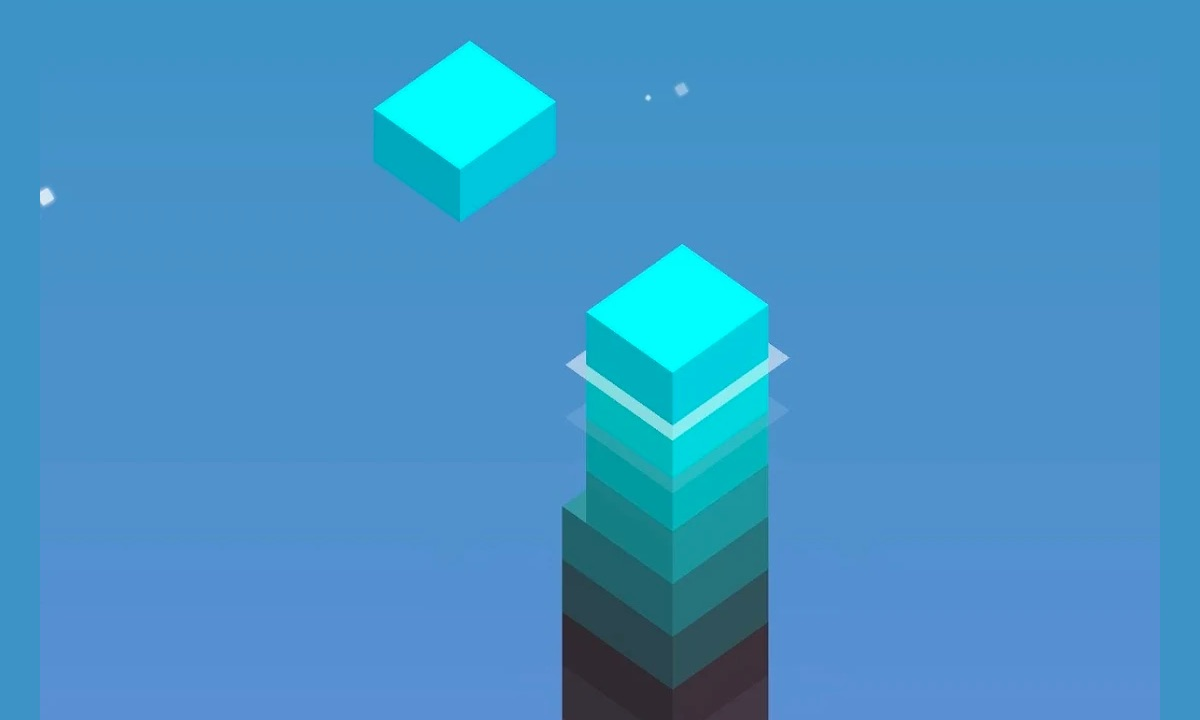 stack blue level blocks