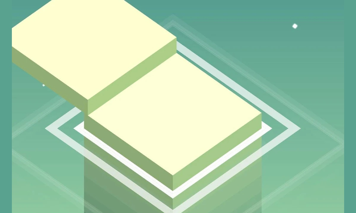 stack green squares gameplay