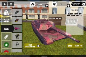 Stickman Rope Hero Pink Tank
