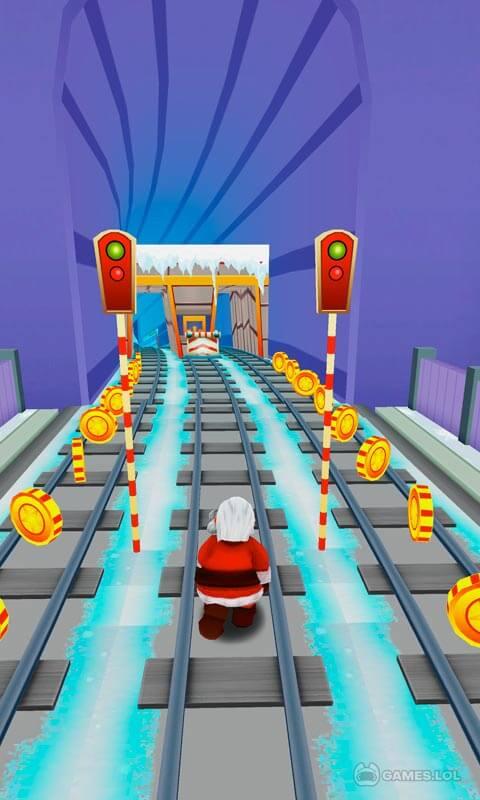 subway santa xmas run download PC