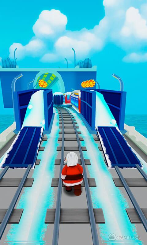 subway santa xmas run download free