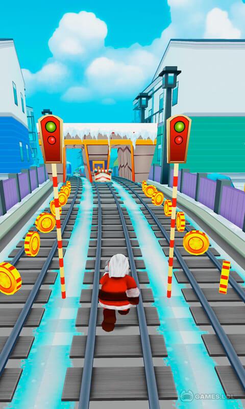 subway santa xmas run download full version