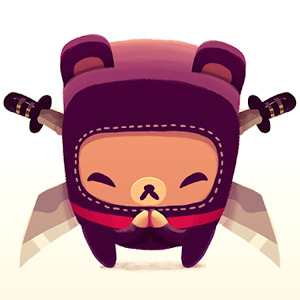 Bushido Bear Double Bladed Cute Ninja