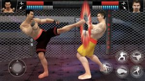 MMA fighting manager combo kick