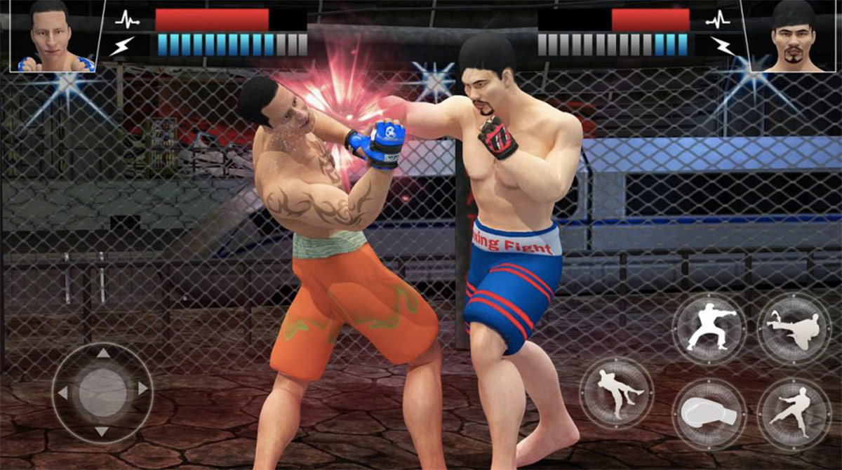 MMA fighting manager combo punch