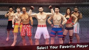 MMA fighting manager select player