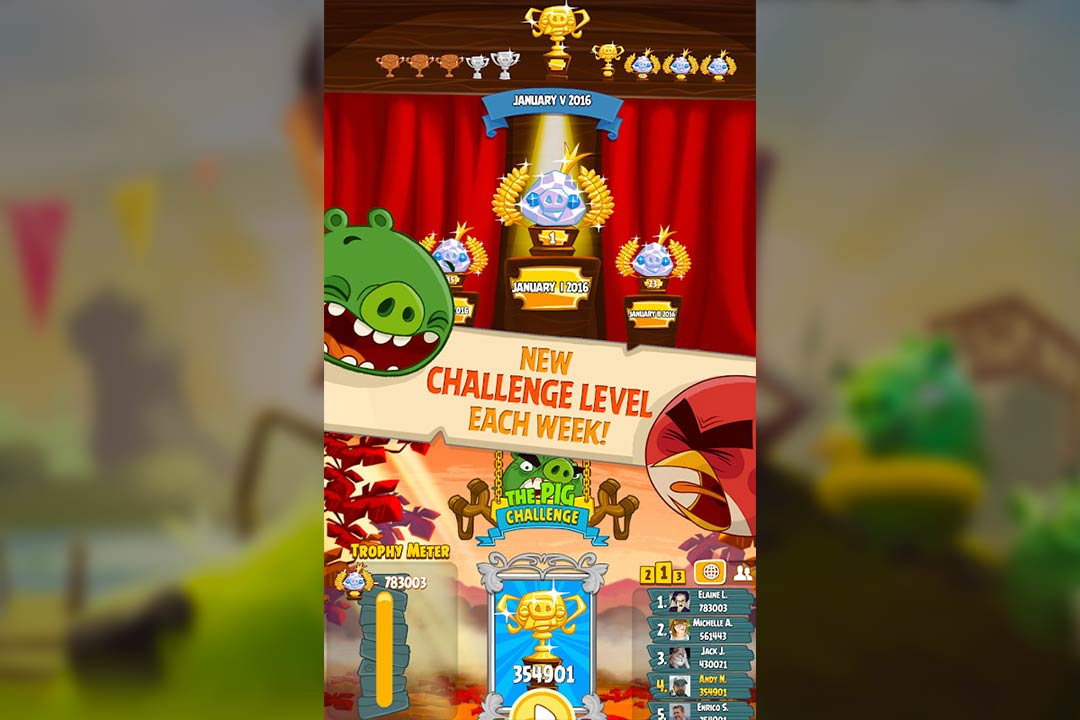 angry birds season challenge level