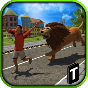 angry lion attack action game