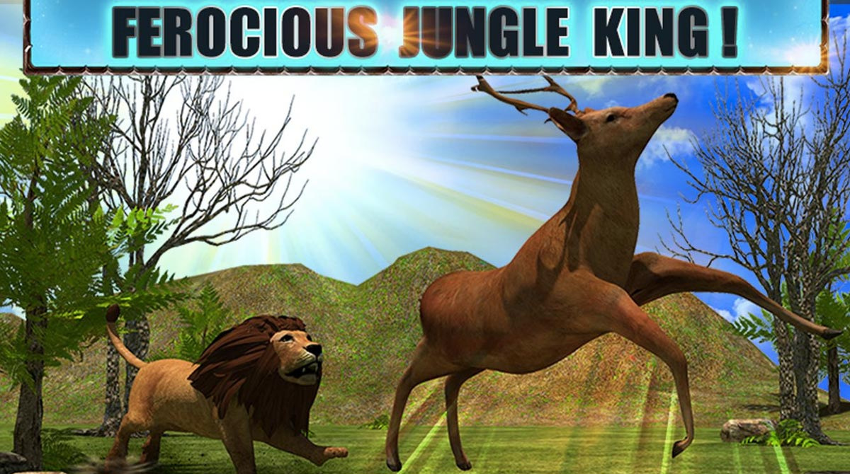 angry lion attack jungle king