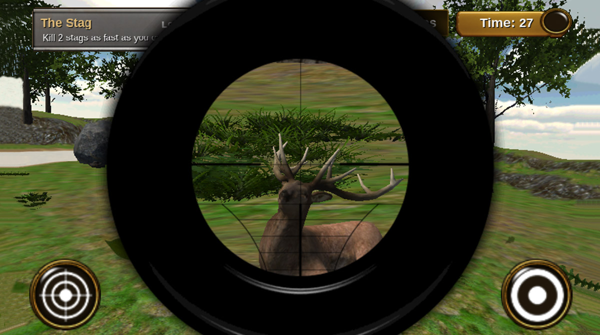 animal hunter 3d head shot