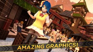 anime girl run amazing graphics
