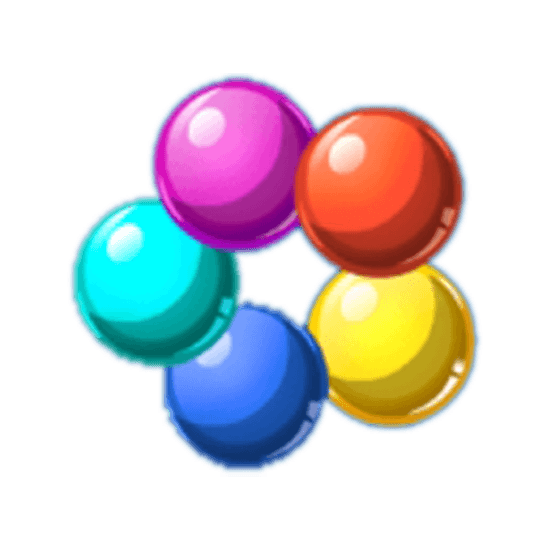 bubble trouble multicolored balls
