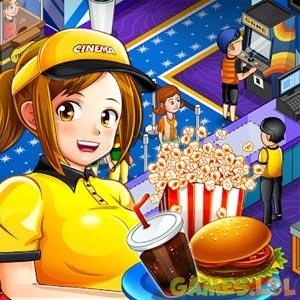 cinema panic 2 waiter serving movie snacks