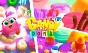 Play Crazy Candy Bomb – Sweet match 3 game on PC