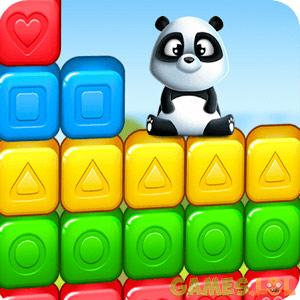 cubeblast smiling panda