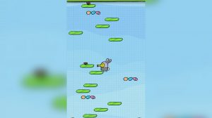 doodlejump collecting eggs