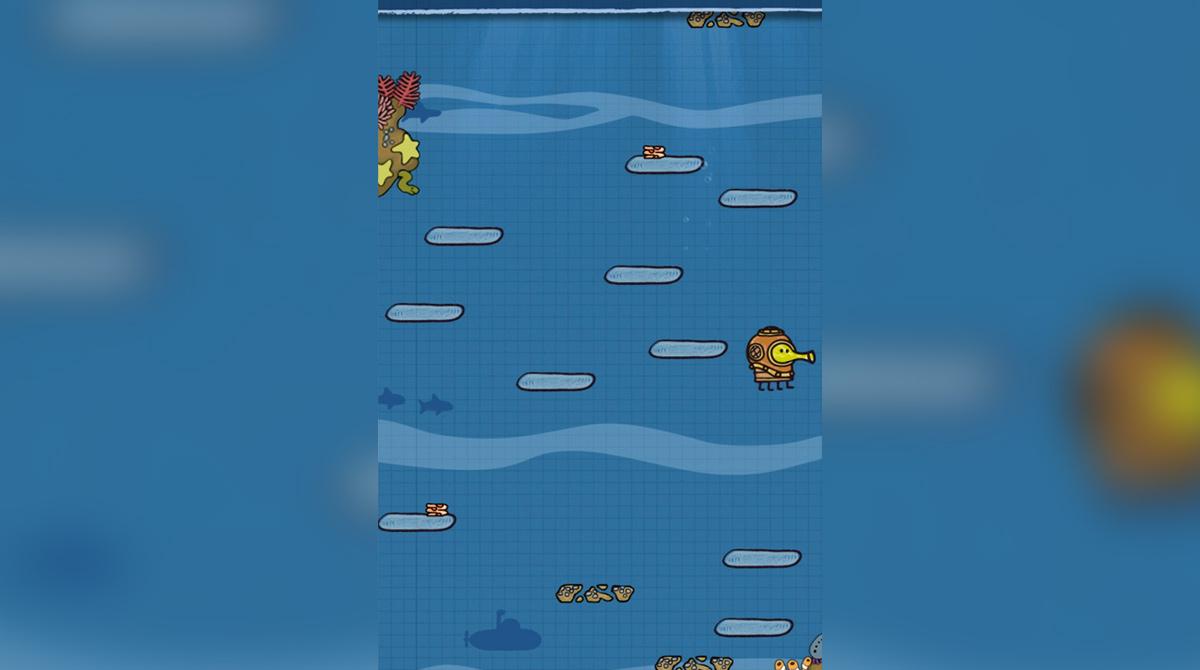 doodlejump underwater fight