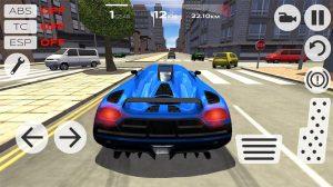 extreme car blue car