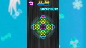 Fidget Spinner Online Colorful Glow