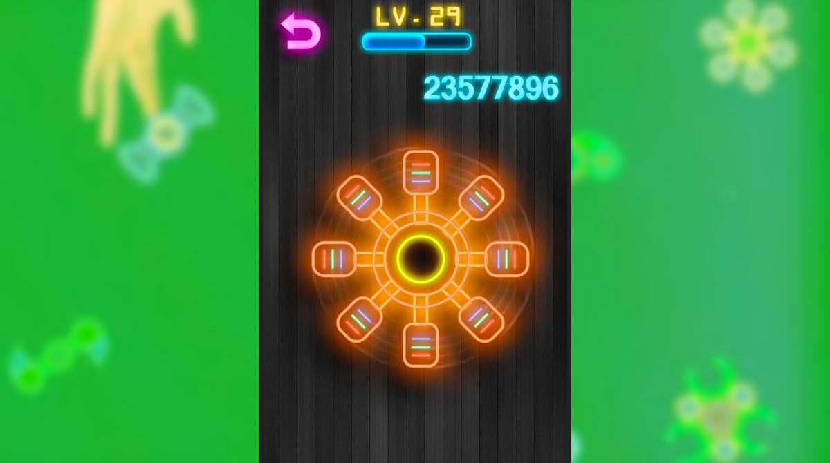 Fidget Spinner Online Orange Round Toy