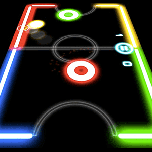 Play Glow Hockey on PC