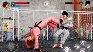 karate king fighter back flip