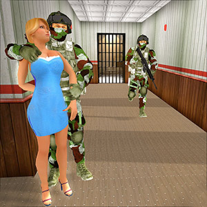 modern action commando hostage