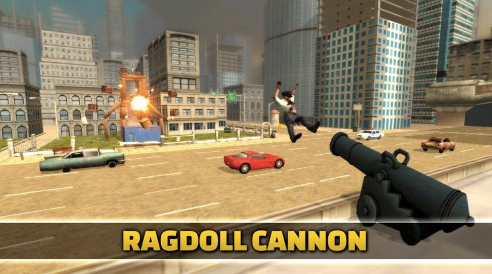 ragdoll cannon blast shot directly