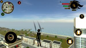 real stickman crime fly high