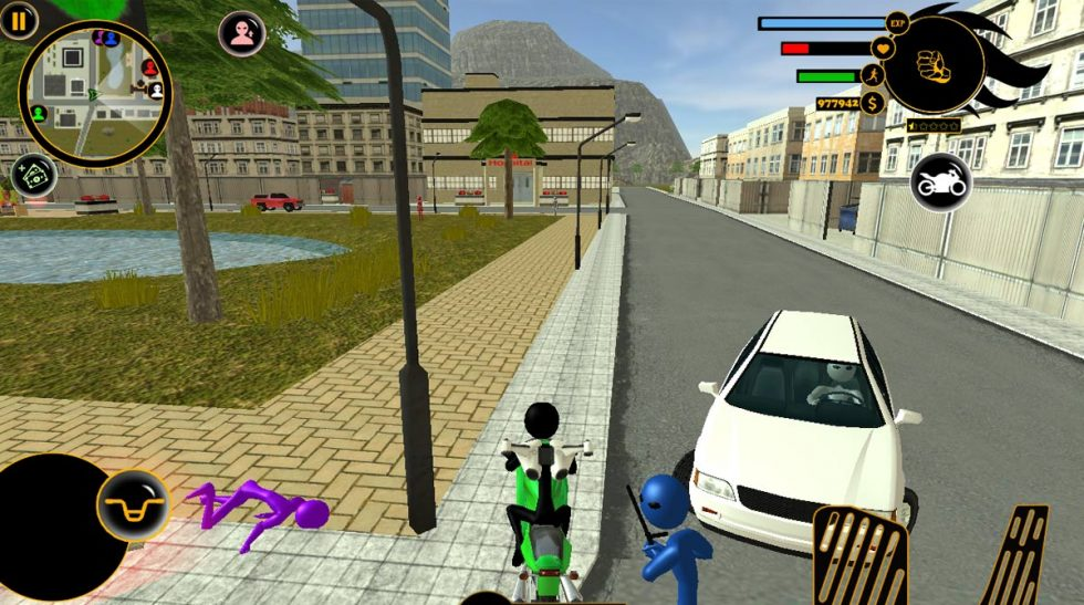 real stickman crime hit the road